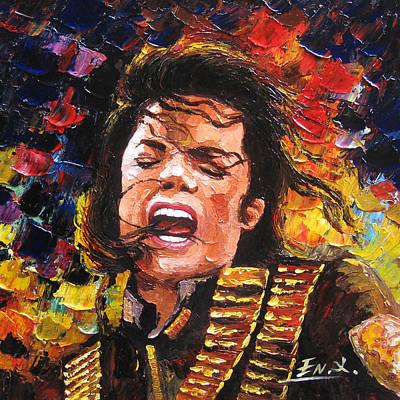 original palette knife painting Michael Jackson Original