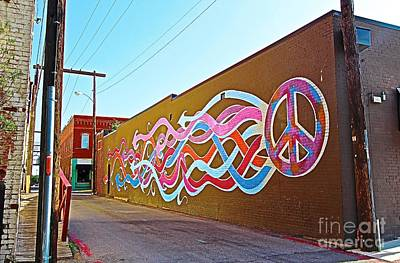 Original Peace Flows Through The Streets Art Print