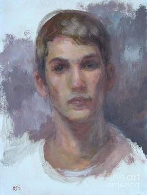 Painting - Original Portrait Called Boyfriend - Commission Your Own Painting by Quin Sweetman