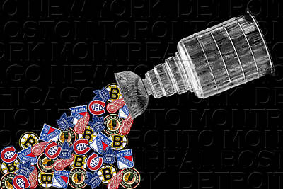 Sports Royalty-Free and Rights-Managed Images - Original Six Stanley Cup 2 by Andrew Fare