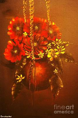 Hanging Flower Pot-original Sold-buy Giclee Print Nr 24 Of Limited Edition Of 40 Prints   Art Print