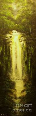 Norwegian Waterfall Painting - High Falls-original Sold-buy Giclee Print Nr 37 Of Limited Edition Of 40 Prints   by Eddie Michael Beck