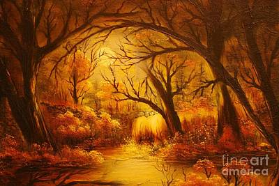 Painting - Hot Forest- Original Sold- Buy Giclee Print Nr 29 Of Limited Edition Of 40 Prints  by Eddie Michael Beck