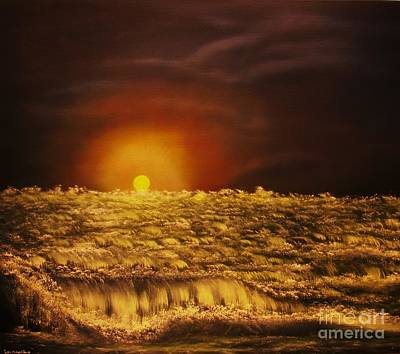 Painting - Norwegian Winter Sunset- Original Sold--buy Giclee Nr 26 Of Limited Edition Of 40 Prints  by Eddie Michael Beck