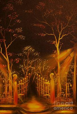 Parks Gate-original Sold- Buy Giclee Print Nr 29 Of Limited Edition Of 40 Prints  Art Print