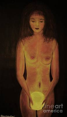 Painting - The Glow-original Sold- Buy Giclee Print Nr 34 Of Limited Edition Of 40 Prints  by Eddie Michael Beck