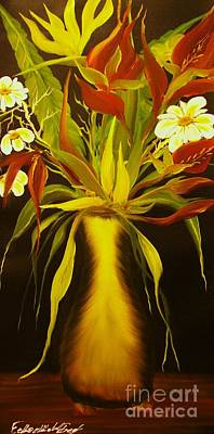 Painting - Wild Flowers Vase-original Sold-buy Giclee Print Nr 22 Of Limited Edition Of 40 Prints  by Eddie Michael Beck