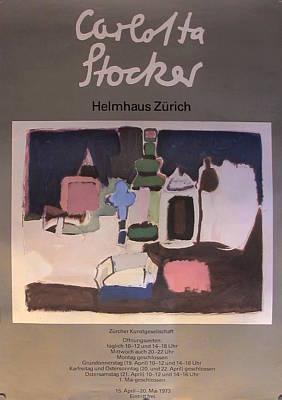 Original Swiss Exhibition Poster - Carlotta Stocker Original