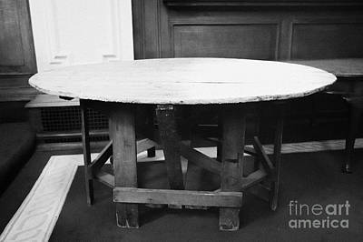 City Council Photograph - Original Table On Which The Ulster Solemn League And Covenant Was Signed Now In The Council Chamber Belfast City Hall Built In 1906 County Antrim Northern Ireland by Joe Fox