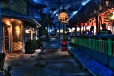 Fort Pierce Digital Art - Original Tiki Bar Fort Pierce by Richard Hemingway