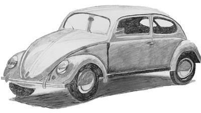 Original Vw Beetle Original by Catherine Roberts