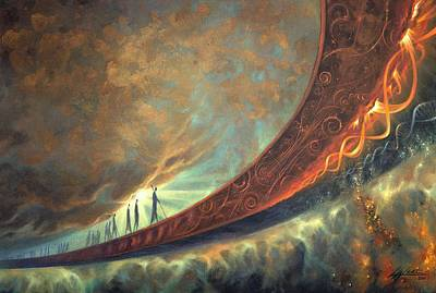 Helix Painting - Origins by Lucy West