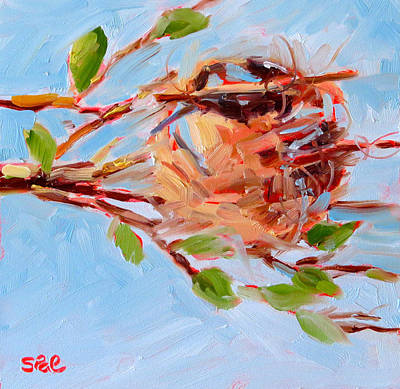 Oriole Painting - Oriole Nest by Suzy Pal Powell
