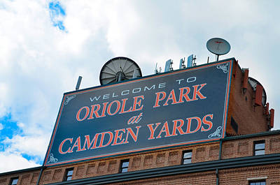 Oriole Digital Art - Oriole Park At Camden Yards Sign by Bill Cannon