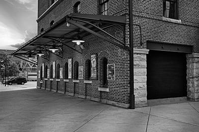 Oriole Park Box Office Bw Art Print by Susan Candelario