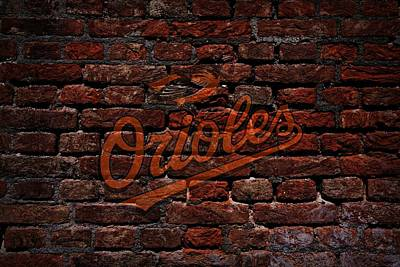 Infield Digital Art - Orioles Baseball Graffiti On Brick  by Movie Poster Prints