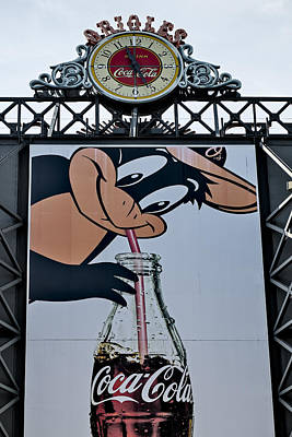 Orioles Mascot Drinks Coca Cola Art Print
