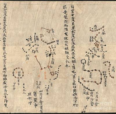 Betelgeuse Photograph - Orion Constellation, Dunhuang Star Chart by British Library
