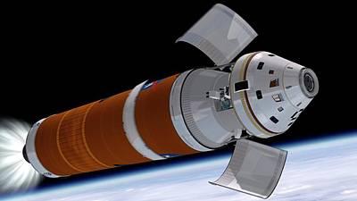 Orion Deployment In Orbit Art Print