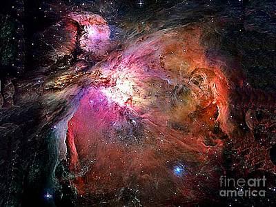 Photograph - Orion Galaxy From Nasa by Merton Allen