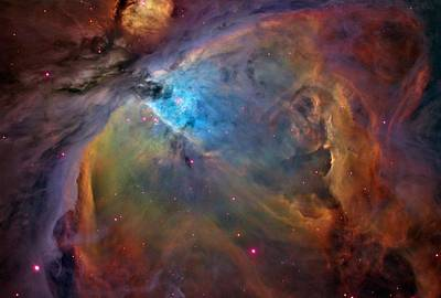 Orion Nebula Close Up 2 1-3-14 Art Print by L Brown
