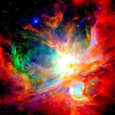 Orion Nebula Close Up II Art Print by L Brown
