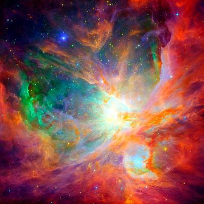 Orion Nebula Close Up Art Print by L Brown