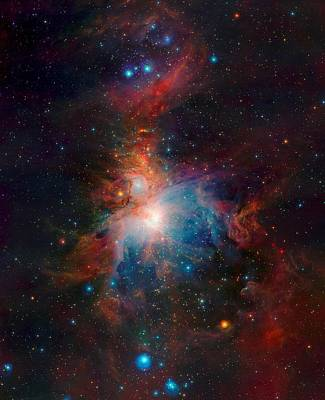 Observer Mixed Media - Orion Nebula From Vista Telescope Eso In Chile by L Brown