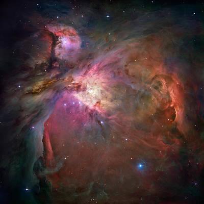 Nebula Photograph - Orion Nebula - Hubble 2006 Mosiac by Space Art Pictures
