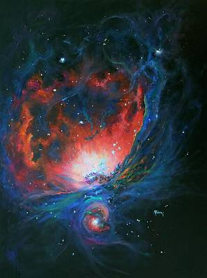 Marie Green Painting - Orion Nebula M42 by Marie Green
