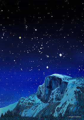 Orion Over Halfdome Art Print