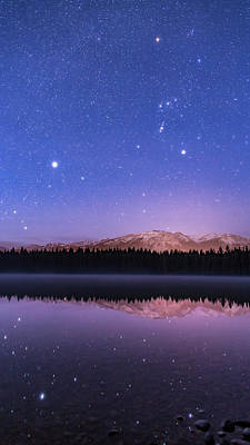 Betelgeuse Photograph - Orion Over Lake Annette by Alan Dyer