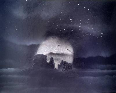 Spray Paint Painting - Orion Over Monument Valley by Christopher Reddinger