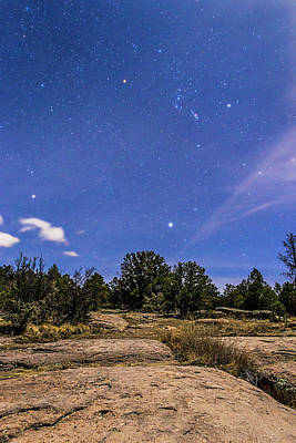 Dyer Photograph - Orion Rising Over The Gila by Alan Dyer