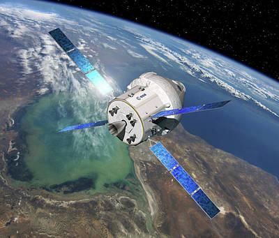 Orion Spacecraft In Orbit Art Print