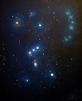 Constellations Painting - Orion The Hunter by Timothy Benz