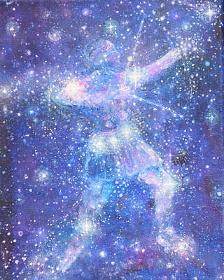 Constellations Painting - Orions Belt by Ashleigh Dyan Bayer