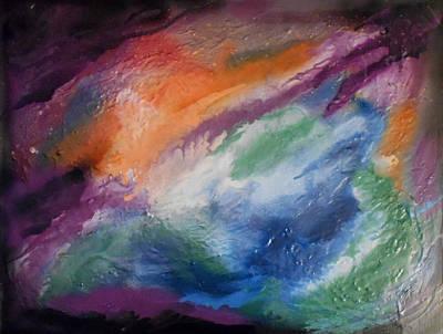Mixed Media - Orion's Nebula  by Angela Stout