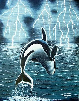 Painting - Orka     Killer Whale by Thomas F Kennedy