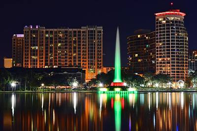 Photograph - Orlando At Night by Frozen in Time Fine Art Photography