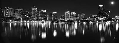Photograph - Orlando Black And White Panorama by Frozen in Time Fine Art Photography