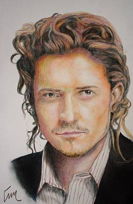 Orlando Bloom Drawing - Orlando Bloom by Emily Maynard