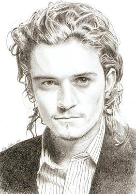 Orlando Bloom Drawing - Orlando Bloom by Nur Adlina