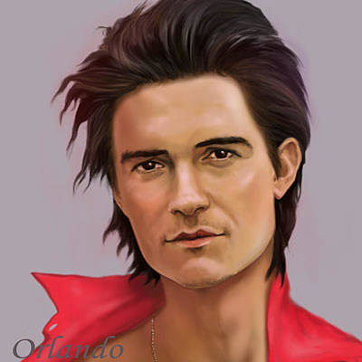Orlando Bloom Digital Art - Orlando by Evgen Bondarevskiy