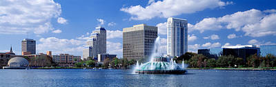 Water Fountain Photograph - Orlando, Florida, Usa by Panoramic Images
