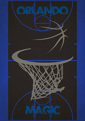 Baskets Photograph - Orlando Magic Court by Joe Hamilton