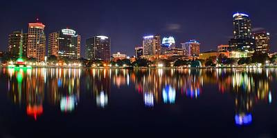 Photograph - Orlando Panoramic View by Frozen in Time Fine Art Photography
