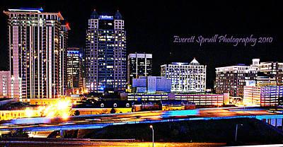 Orlando Skyline At Night Art Print