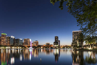 City Photograph - Orlando Skyline by Domenik Studer