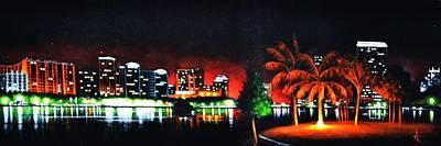 Sunsert Painting - Orlando by Thomas Kolendra
